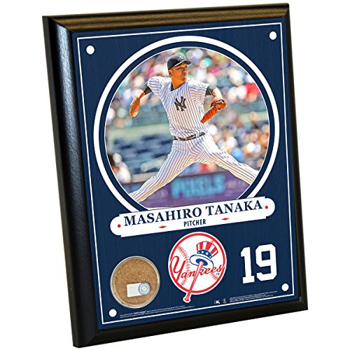 MLB New York Yankees Masahiro Tanaka Plaque with Game Used Dirt from Yankee Stadium, 8