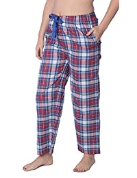 Beverly Rock Womens 100% Cotton Plaid Lounge Pants Available In Plus Size