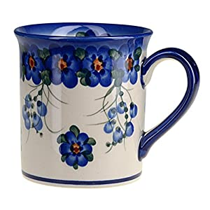 Classic Boleslawiec Pottery Hand Painted Ceramic Mug 300ml 057-U-001