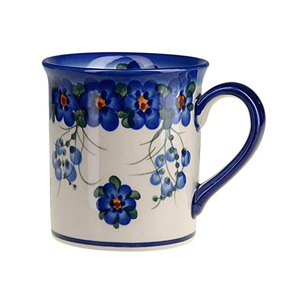 Classic Boleslawiec Pottery Hand Painted Ceramic Mug 300ml 057-U-001