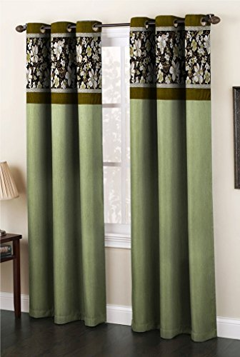Homefab India Fusion Polyester Door Curtain – 7ft, Green