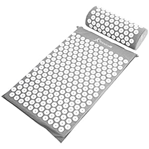 Gut Health Shop 51GI9s-0PHL._SS300_ ProsourceFit Acupressure Mat and Pillow Set for Back/Neck Pain Relief and Muscle Relaxation