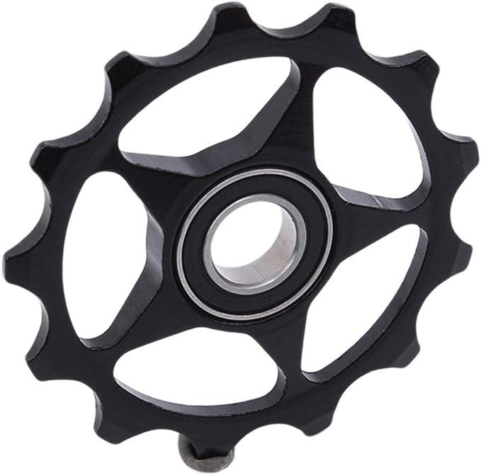 Mountainbike-Keramik Hinterrad-Umwerfer-Riemenscheibe Getriebelager Lagerrad Riemenscheibe Fahrrad Fahrradzubeh/ör Aigend Umwerfer-Umlenkrolle
