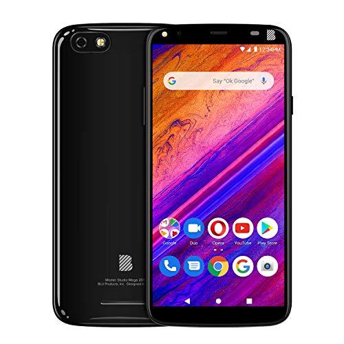 BLU Studio Mega 2019-6.0 Display Smartphone, 32GB+2GB RAM- Black
