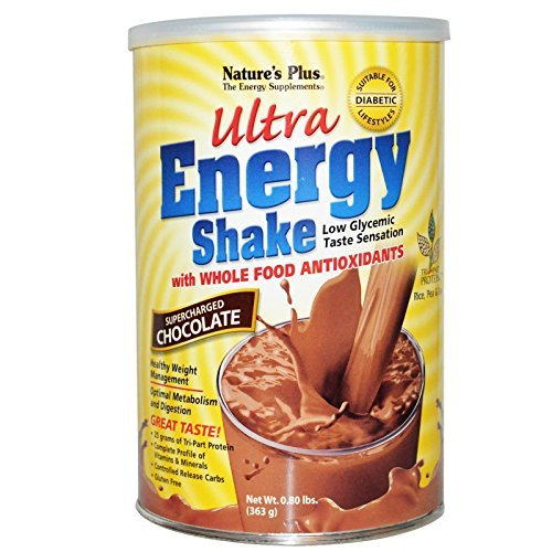 Natures Plus Ultra Energy Shake - Ultra Energy Shake, Supercharged Chocolate, 0.80 lbs (363 g) by Nature's Plus