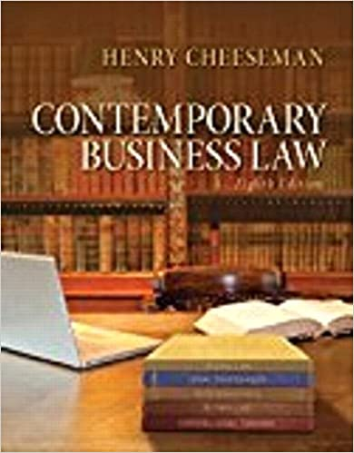 Contemporary business law student value edition 8th edition contemporary business law student value edition 8th edition henry r cheeseman 9780133471083 amazon books fandeluxe Gallery