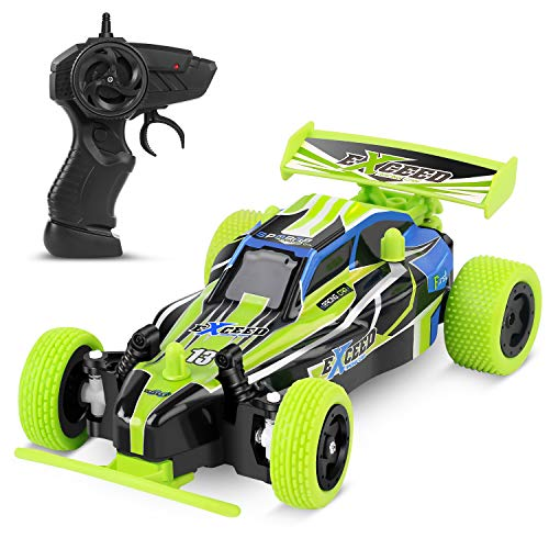 MISSLFJY Remote Control Car, High Speed Racing Car Electronic Hobby Car Buggy Vehicle 2.4 GHZ 1:22 Scale RC Cars Toys for Kids Toddler Boys Girls with Rechargeable Battery for Car, Two AA Batteries (Remote Control Cars Toy)