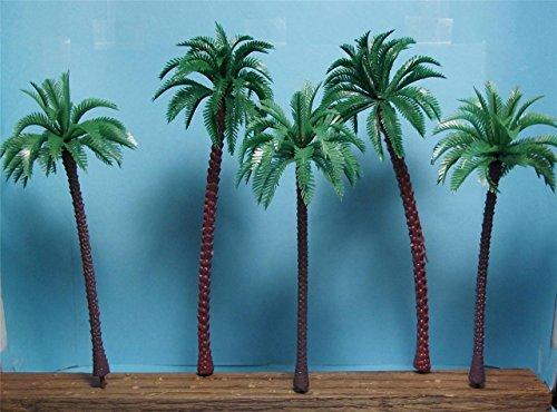 Gp40 Santa (5 Pack of Tall Model Coconut Palm Trees-2 Pcs. 7 3/8
