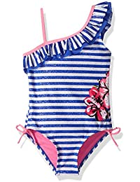 Girls' Foil Stripe W/Floral Cream 1pc