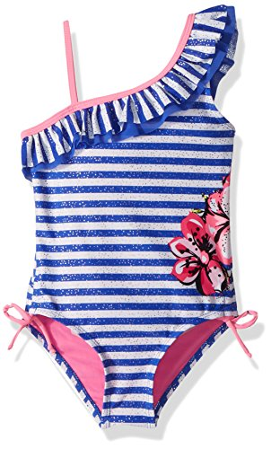 Limited Too Little Girls' Foil Stripe W/Floral Cream 1pc, Royal, 6X