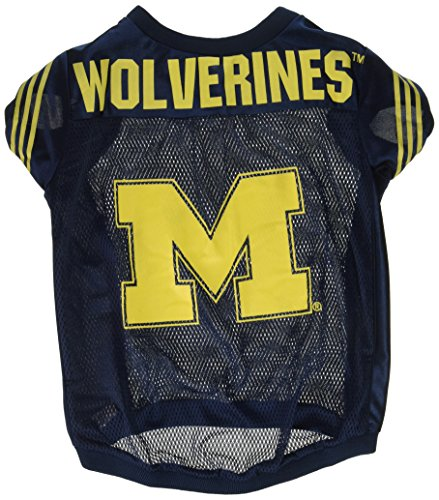 NCAA Michigan Wolverines Football Dog Jersey, Large (Ncaa Dog Jersey Shirt)