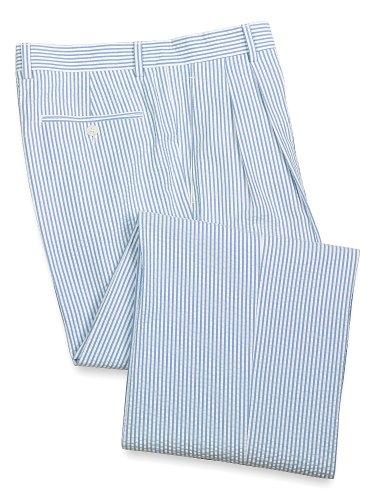 Paul Fredrick Men's 100% Cotton Seersucker Pleated Suit Separate Pants