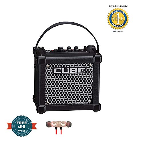 - Roland Micro Cube GX Guitar Amplifier (Black) includes Free Wireless Earbuds - Stereo Bluetooth In-ear and 1 Year EverythingMusc Extended Warranty