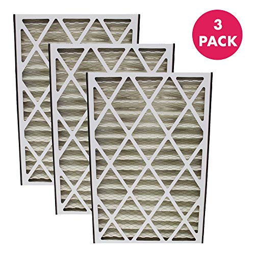 Crucial Air Replacement Air Filter Compatible With Trion Air Bear Part # 255649-101 Furnace Filter 16″ x 25″ x 3″ (2 Pack)