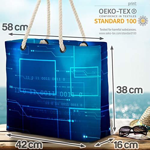 VOID digital teknik strandväska Shopper 58 x 38 x 16 cm 23 L XXL shoppingväska väska resväska Beach Bag