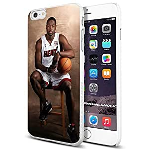 Basketball NBA Dwyane Wade 3 Miami Heat Cool iphone 6 4.7 Smartphone Case Cover Collector iphone TPU Rubber Case White [By PhoneAholic]