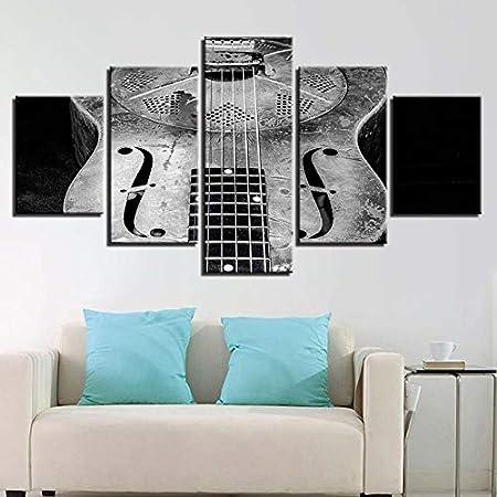 CYYCY 5 Moderno Minimalista Instrumento de Guitarra Pintura ...