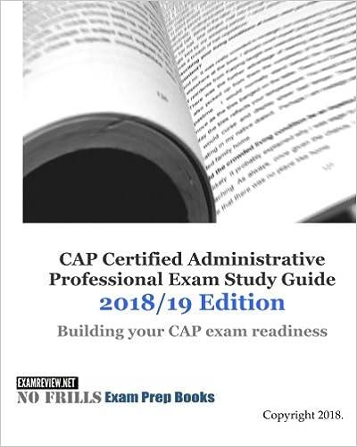 Cap certified administrative professional exam study guide 201819 cap certified administrative professional exam study guide 201819 edition fandeluxe Images