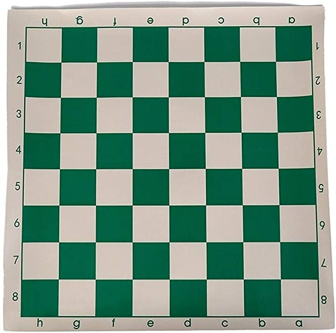 AILI Juegos Tradicionales Ajedrez 1Pc Tablero de ajedrez del Torneo de Vinilo para Juegos educativos para niños Tablero magnético Verde y Blanco para Damas de ajedrez 34.5 cm Juegos de Mesa Ajedrez: