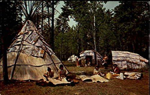 Chippewa Indian Village Hayward, Wisconsin WI Original Vintage ...