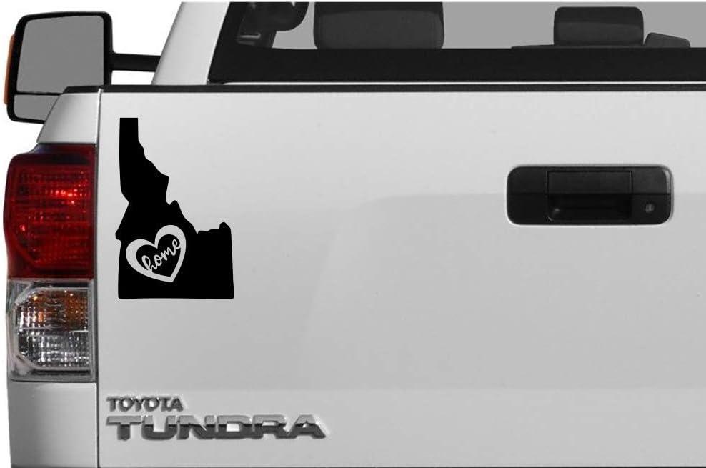 "State of Idaho Black Vinyl Decal, Home, Heart, Love, Sticker for Car Truck Van Window (5.8"" x 3.8"
