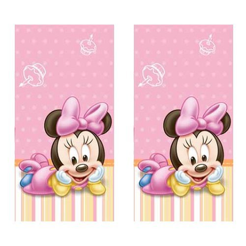 Minnie Mouse 1st Birthday Party Plastic Tablecovers - 2 Pieces -