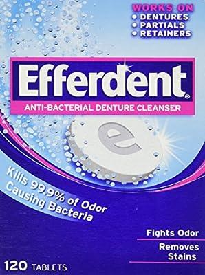 Efferdent Anti-bacterial Denture Cleanser 120 Tablets