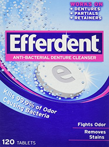 Efferdent Anti-Bacterial Denture Cleanser, 120 (Dental Cleanser)