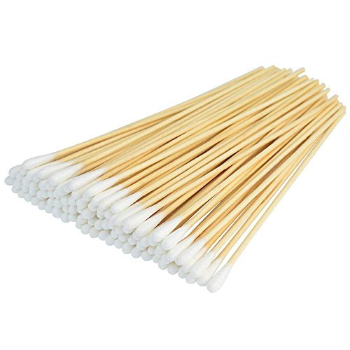 (500 Pcs Swabs Cotton Sticks, Bantoye 6 Inches Cleaning Sterile Sticks with Wooden Handle for Wound Clean, Cleaning Makeup, Removal Residue)