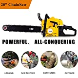 Aceshin 20″ 52CC 3.0 HP Gas Powered Chain Saw 2 Stroke Handed Petrol Chainsaw (US Stock)
