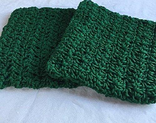 Green Crocheted Pot Holders Set of 2 (Crocheted Pot Holder)