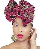 DESIGN 49 Pink Head Wrap   100% Cotton HEAD SCARF   Royal Head Wraps