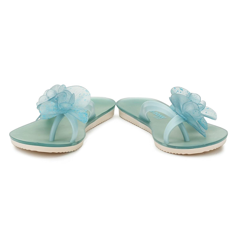 Ice Flower, Tongs Femme, Bleu Aigue-Marine, 39 EUZaxy
