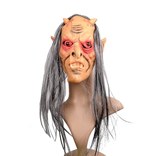 YUFENG Latex Halloween Bloody Horror Scary Mask Devil Mask for Adults Costume (Halloween Horror Nights The Purge 2017)