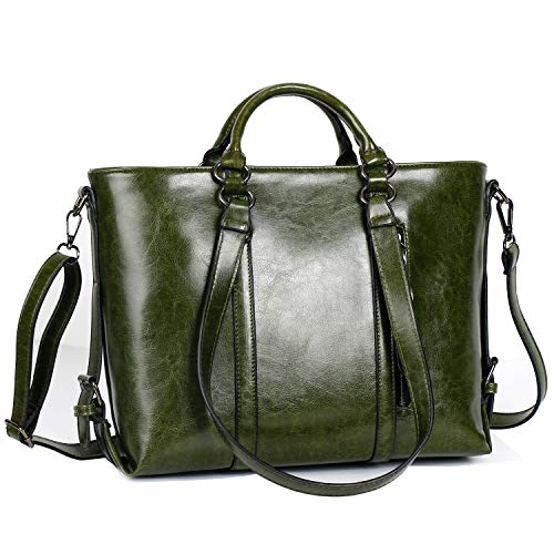 IYGO Leather Tote Bag for Women, Leather Top-Handle Shoulder HandBag Tote Bag Waterproof Crossbody Bag by IYGO (Image #5)
