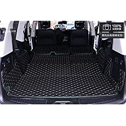 Worth-Mats 3D Full Coverage Waterproof Car Trunk Mat For Infiniti QX80/QX56 (With Armrest box on the 2nd row) -Black