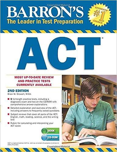 Ilmainen äänikirja ladataan tietokoneeseen Barron's ACT with CD-ROM, 2nd Edition (Barron's Act (Book & CD-Rom)) Suomeksi