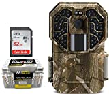 Trail Camera Bundle 3 Items | Stealth Cam G45NG + AA Battery 24 PK + 32 GB SD Card | 14 MP Pictures | HD Video W/ Audio| NO Glow Night Vision Motion Activated Infrared 100 FT Range