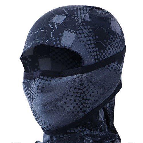 INCONTRO Outdoor Motorcycle Full Face Mask Balaclava Ski Neck Protection Clothing Neck Gaiter Bandana, Lightweight & Breathable Hiking, Outdoor, Fishing Mask, (Dot-Black)