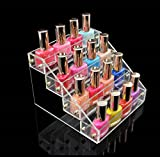1-Pc Important Popular Hot Nails Polish Organizer Travel Case Manicure Tools Lip Gloss Display Color Transparent 4 Tier Style #07