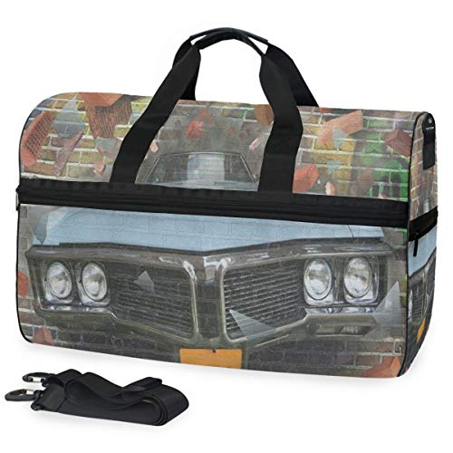 Graffiti Crashing Automobile On Brick Wall Gym Bags for sale  Delivered anywhere in Canada