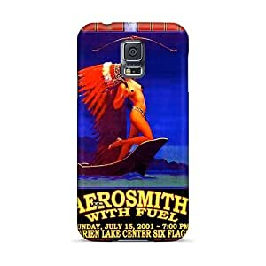 Samsung Galaxy S5 Ggt19648oDJL Support Personal Customs Attractive Aerosmith Band Pictures Shock-Absorbing Hard Phone Cases -KevinCormack