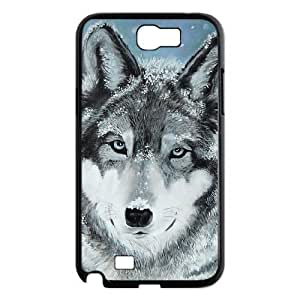 case Of Gray Wolf Customized Bumper Plastic Hard Case For Samsung Galaxy Note 2 N7100
