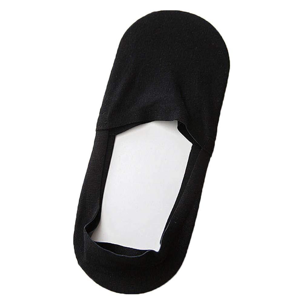 lzndeal Calzini,Calze Invisibili in Cotone,5 Pairs Anti-Slip Silicone No Show Socks Soft Cotton Breathable for Men Summer