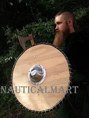 NauticalMart Renaissance Armor 28'' SCA starter Viking Round Shield by NAUTICALMART