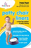 TidyTots Disposable Potty Chair Liners - Travel Pack XL - Fits All Potty Chairs - 32 Liners and 32 Super-Absorbent Pads: more info