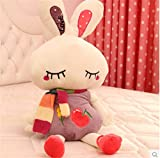 40cm pretty rabbit plush doll throw pillow cushion purple