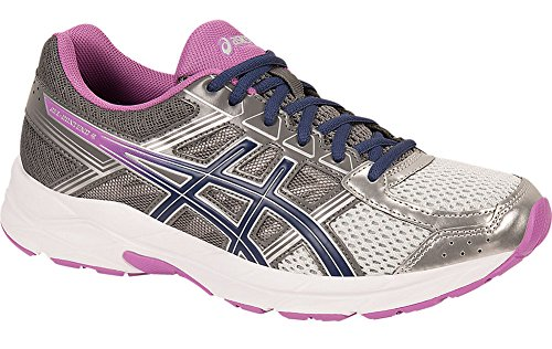 ASICS Women's Gel-Contend 4 Running Shoe, Silver/Campanula/Carbon, 10 M US