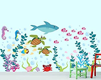Attractive Aquarium Wall Decal   Under The Sea   Ocean Wall Decal   Fish Wall Decal Part 7