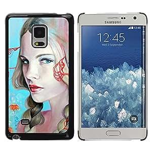 TopCaseStore / la caja del caucho duro de la cubierta de protección de la piel - Sexy Girls Painting - Samsung Galaxy Mega 5.8 9150 9152
